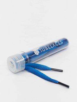 Tubelaces Shoelace White Flat Sundowner blue