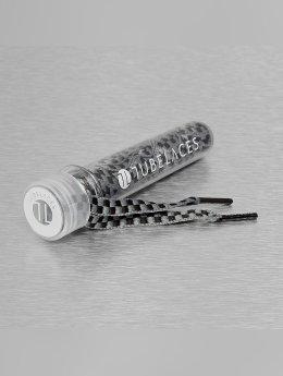 Tubelaces Snørebånd Whute Flat Lux grå