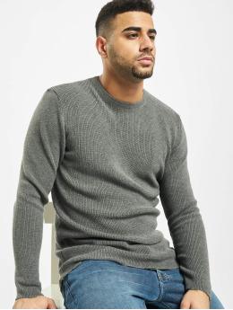 2Y Пуловер Moss серый