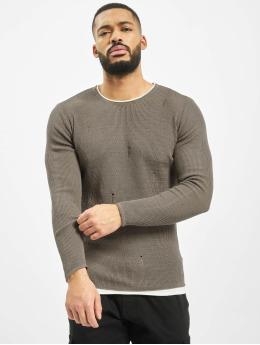 2Y Pullover Alder braun