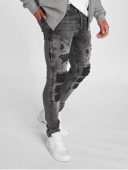 2Y Slim Fit -farkut Fortino harmaa