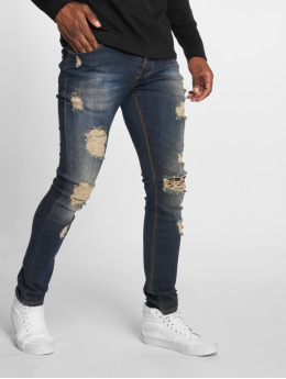 2Y Slim Fit Jeans Destroyed blauw