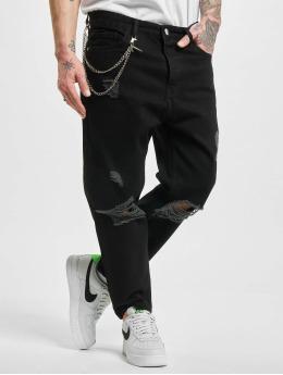 2Y Slim Fit Jeans Chain  schwarz