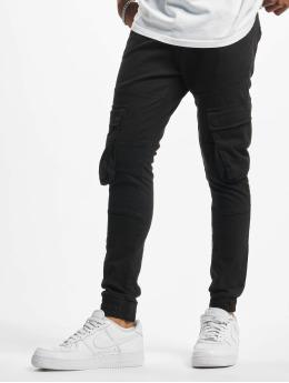 2Y Spodnie Chino/Cargo Steven  czarny