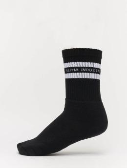 Alpha Industries Chaussettes Stripe noir