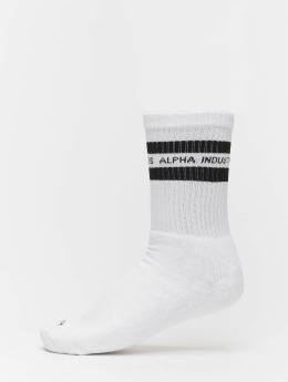 Alpha Industries Ponožky Stripe biela