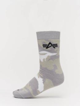Alpha Industries Ponožky Camo kamufláž
