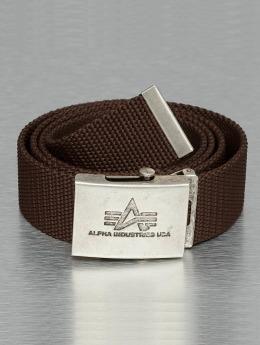 Alpha Industries riem Heavy Duty bruin