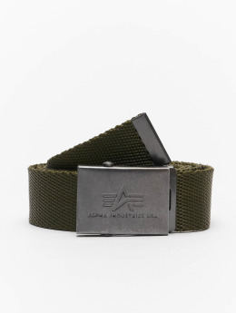 Alpha Industries riem Heavy Duty olijfgroen