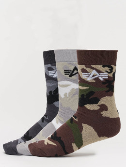 Alpha Industries Socken 3 Pack Camo bunt