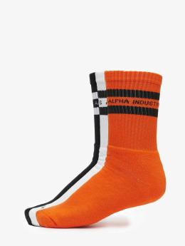 Alpha Industries Strumpor 3 Pack Stripes apelsin