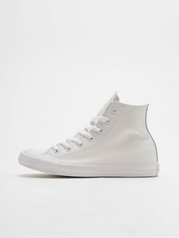 Converse Tøysko Chuck Taylor All Star Leather Hi hvit