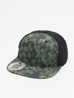 Dangerous DNGRS Snapback Caps Camo musta