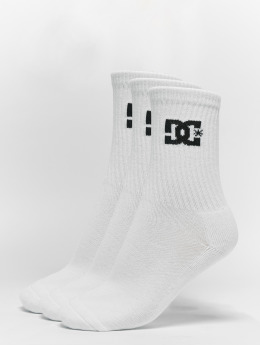 DC Socks  3-Pack Spp Crew  white