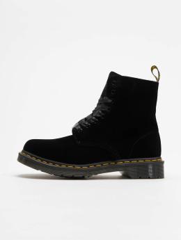 Dr. Martens Boots Pascal Velvet 8-Eye zwart
