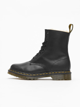 Dr. Martens Chaussures montantes Serena Wyoming 8-Eye Burnished noir
