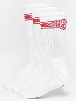 Homeboy Chaussettes 3-Pack Nappo Stripe blanc