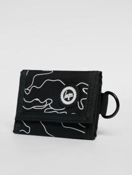 HYPE portemonnee Outline Camo Trifold zwart