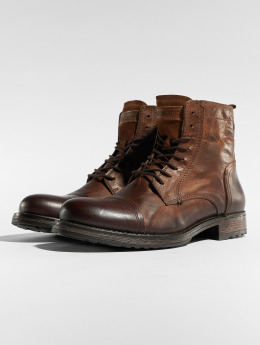Jack & Jones Čižmy/Boots jfwRussel Leather hnedá