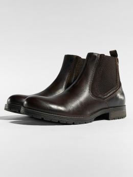 Jack & Jones Støvler jfwCarston Combo Chelsea brun