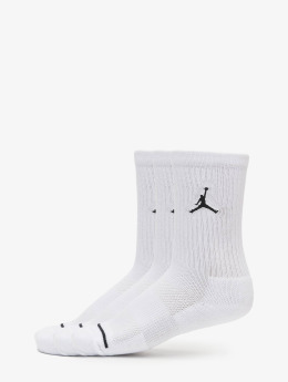 Jordan Sokker 3 Pack Cotton Crew hvit