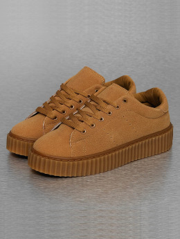 Jumex Frauen Sneaker Basic Plateau in braun