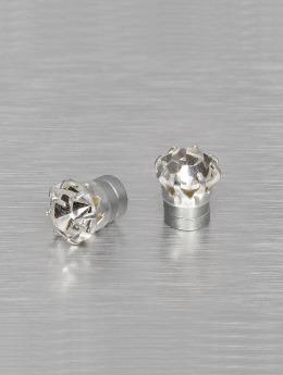 MSTRDS oorbel Mangnet Crystal 8mm zilver