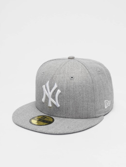 New Era Casquette Fitted MLB League Basic NY Yankees 59Fifty gris