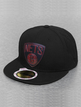 New Era Fitted Cap Team Chrome Brooklyn Nets schwarz