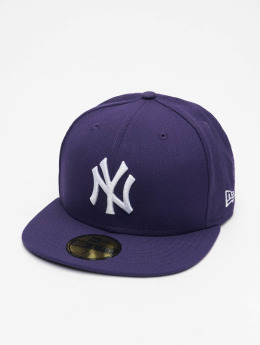 New Era Fitted Cap MLB Basic NY Yankees 59Fifty violet