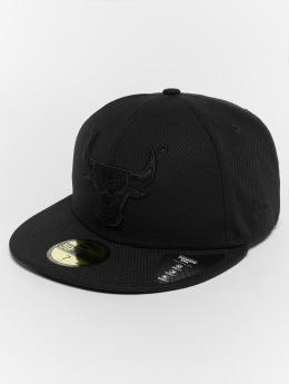 New Era Fitted Cap Diamond Chicago Bulls 59Fifty zwart