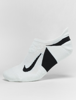 Nike Performance Calcetines Performance Dry Elite Cushioned No Show Running blanco
