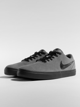 Nike SB Baskets Check Solarsoft Skateboarding gris