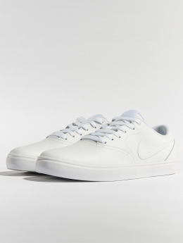 Nike SB Sneakers Check Solarsoft Skateboarding biela