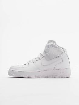 Nike Zapatillas de deporte Air Force 1 Mid Kids Basketball blanco