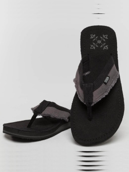 Oxbow Sandaalit Valpero Mix-Fabric Raw musta