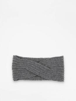 Pieces Cache oreilles pcVirtula Twisted Cashmere gris
