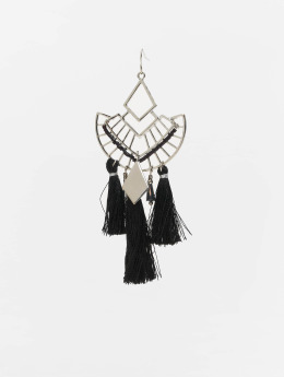 Pieces pcDuo Earrings Silvern Colour/Black