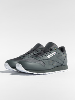 Reebok Сникеры Cl Leather Mu серый