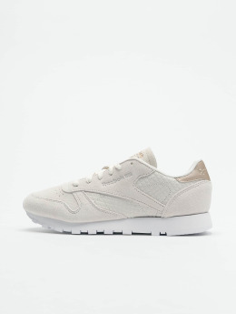Reebok Baskets CL LTHR beige