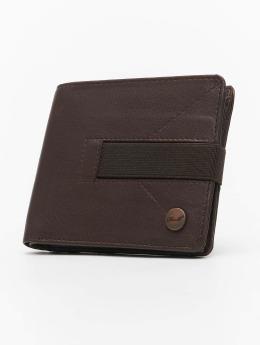Reell Jeans Portamonete Strap Leather marrone