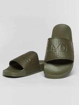 Slydes Claquettes & Sandales Cali  kaki