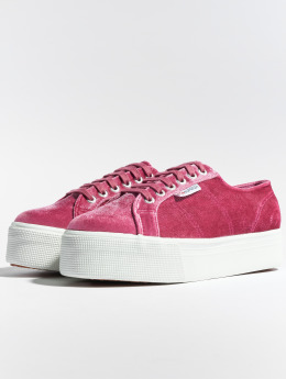 Superga Tøysko 2790 Velvetpolyw red