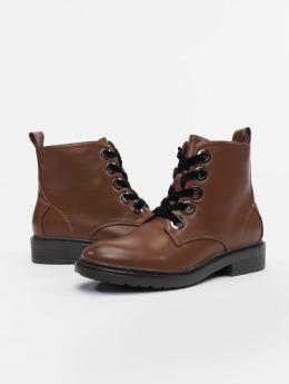 Urban Classics Čižmy/Boots Velvet Lace hnedá
