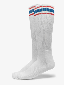 Urban Classics Calcetines Long Stripe 2-Pack blanco