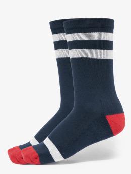 Urban Classics Chaussettes Multicolor Socks 2-Pack bleu