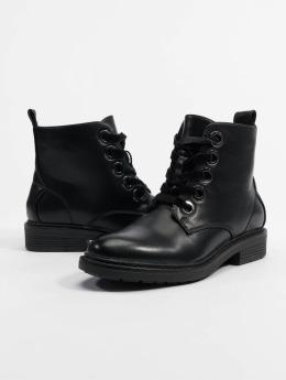 Urban Classics Kozaki Velvet Lace czarny