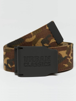 Urban Classics riem Woven Rubbered Touch camouflage