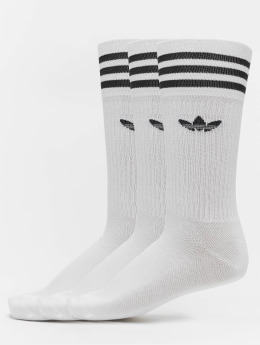 adidas originals Calcetines Solid Crew blanco