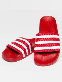 adidas originals Chanclas / Sandalias Stripy rojo